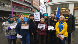 Campaigners and Supporters of Exit From Brexit in Leicester