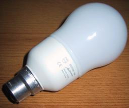 Energy-saving light bulb.
