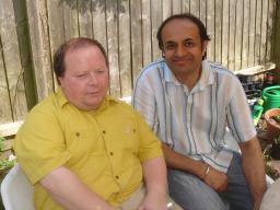 Ian Bradwell with Parmjit Singh Gill