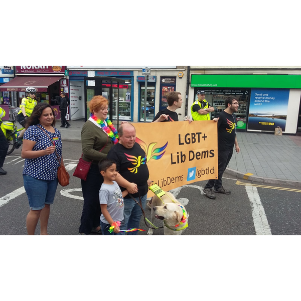 Leicester Liberal Democrats at Leicester Pride 31.08.19