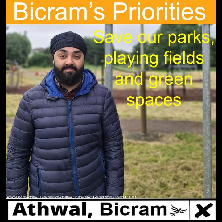 Bicram safe our parks